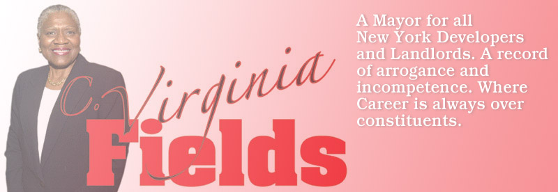 Virginia Fields: arrogance and incompetence